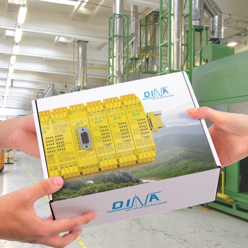Paketübergabe Starterpaket DINA